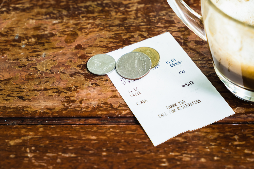 Tipping in London.