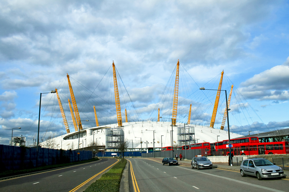 O2 Dome in East London