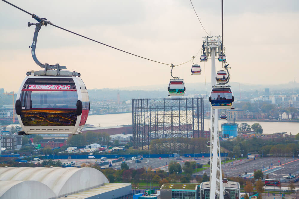 Cars at London Cable Car